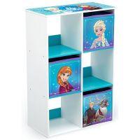 Delta Children - Organizator carti si jucarii cu cadru din lemn Frozen Cube