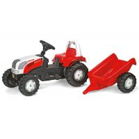 Rolly Toys - Tractor cu pedale si remorca 012510