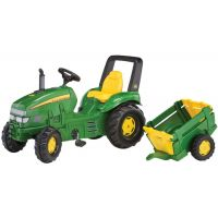 Rolly Toys - Tractor cu pedale si remorca 035762
