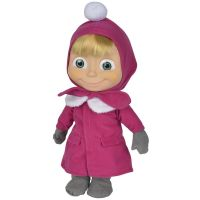 Papusa cu corp moale Simba Masha and the Bear Masha Soft Doll