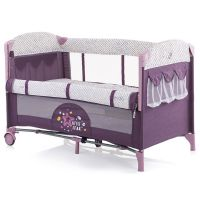 Patut pliabil co-sleeping Chipolino Merida amethyst