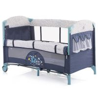 Patut pliabil co-sleeping Chipolino Merida marine blue