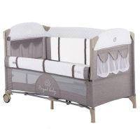 Patut pliabil co-sleeping Chipolino Merida mocca