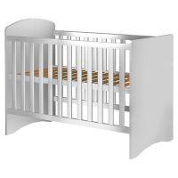 Patut copii din lemn Anne 120x60 cm alb