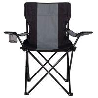 Scaun pliabil pentru camping Springos negru si gri, greutate suportabila 100 kg