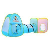 Cort pentru copii pliabil cu tunel 3 in 1 multicolor Cartoons
