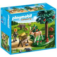 Playmobil - Teren impadurit si animale