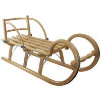KHW - Sanie din lemn cu spatar 115 cm