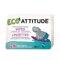 Attitude - Rezerva servetele umede biodegradabile 216 buc