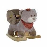 Balansoar din plus cu sunete Bebe Stars Bear, include centura de siguranta