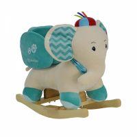 Balansoar din plus cu sunete si centura de siguranta Bebe Stars Elephant Blue