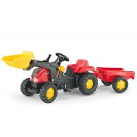 Rolly Toys - Tractor cu pedale si remorca 023127