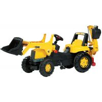 Rolly Toys - Tractor excavator cu pedale 812004