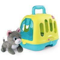 Set pisica cu cusca de transport si accesorii Smoby Veterinary Case