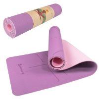 Saltea yoga cu doua fete 183 x 61 x 0.6 cm Springos roz/violet