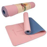 Saltea yoga cu doua fete 183 x 61 x 0.6 cm Springos roz/albastru