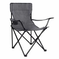 Scaun pliabil pentru camping Springos gri, greutate suportabila 100 kg