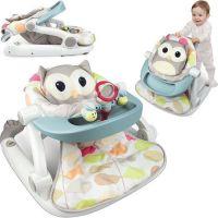 Fotoliu bebe transformabil in antemergator Smily Play Owly resigilat