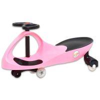 Bobocar  - masinuta cu roti din cauciuc si lumini Pink