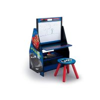 Delta Children - Set 2 in 1 organizator, birou cu tablita si scaun Cars 3 Activity Center