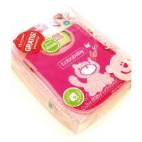 BoboBaby Set cadou pink Paturica bumbac si bavetica