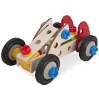 Set constructie din lemn Eichhorn Constructor Racer 50 piese