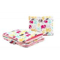 Sensillo - Set perna si pilota Minkey Pink elephants/color