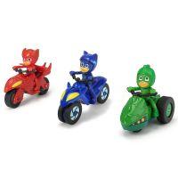 Set 3 motociclete Eroi in pijama cu 3 figurine Dickie Toys