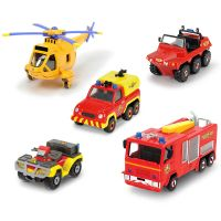 Set 4 masinute si un elicopter Fireman Sam Dickie Toys
