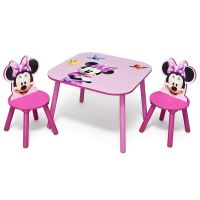 Delta Children - Set masuta si 2 scaunele Minnie Mouse