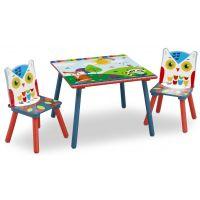 Delta Children Set masuta si 2 scaunele Woodland