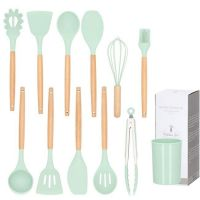 Set 11 ustensile bucatarie din silicon Mint, include tel, spatula, lingura