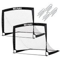 Set 2 porti de fotbal pliabile Net Playz 125x90x90 cm