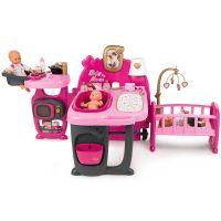 Centru de ingrijire pentru papusi Smoby Baby Nurse Doll`s Play Center cu 3 parti si 23 accesorii