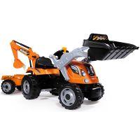 Tractor cu pedale si remorca Smoby Builder Max