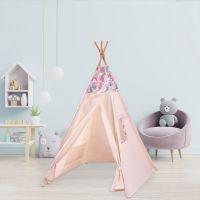Cort copii stil indian Teepee Tent Pink Unicorn