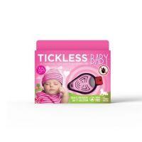 Dispozitiv ultrasonic anticapuse portabil 0-5 ani roz Tickless Baby