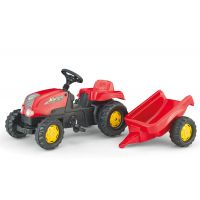 Rolly Toys - Tractor cu pedale si remorca 012121