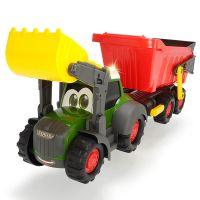 Tractor Happy Farm cu remorca Dickie Toys