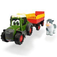 Tractor cu remorca si figurina Happy Fendt Animal Trailer Dickie Toys