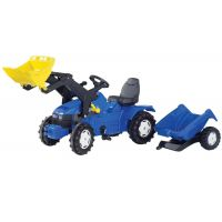 Rolly Toys - Tractor cu pedale si remorca 049417