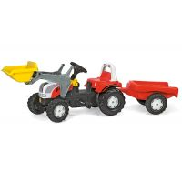 Rolly Toys - Tractor cu pedale si remorca 023936