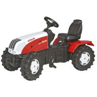 Rolly Toys - Tractor cu pedale copii 035304 alb rosu