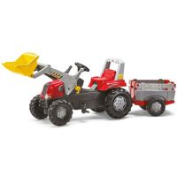 Rolly Toys - Tractor excavator cu remorca 811397