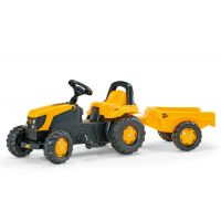 Rolly Toys - Tractor cu pedale si remorca 012619