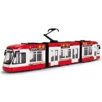 Tramvai City Liner rosu Dickie Toys