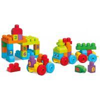 Fisher Price - Trenulet cu numere Mega Bloks