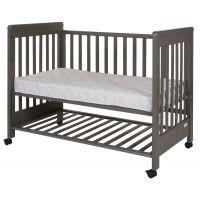 Treppy - Patut co-sleeping 120x60 cu laterala culisanta si roti Dreamy Plus Grey