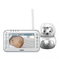 Videointerfon digital bidirectional Vtech 4.3 inch BM4600 Bufnita, camera rotativa, melodii si termometru