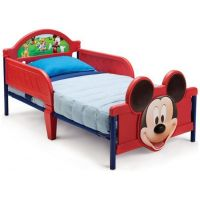 Delta Children - Pat cu cadru metalic Mickey Mouse